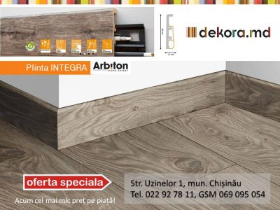 Plinta cu aspect de lemn din duropolimer — INTEGRA