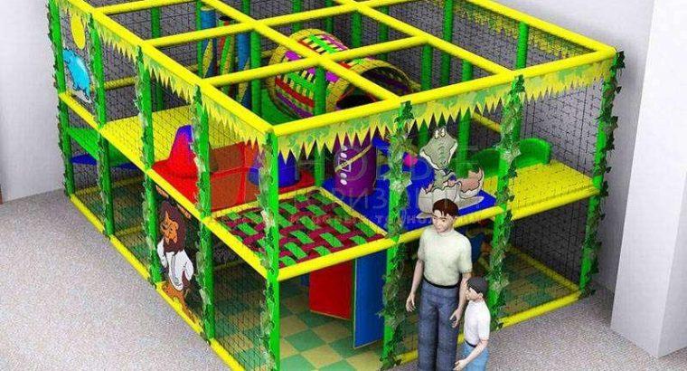 Детский игровой лабиринт, оборудование детской игровой комнаты, сухой бассейн, мягкий конструктор
