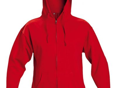 Батник на молнии с капюшоном NAGAR — красный