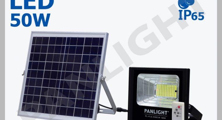 LED прожектор на солнечной батарее, столбовые свет