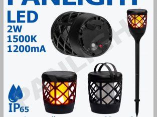 Садовый светильник (факел) на солнечной батарее, с