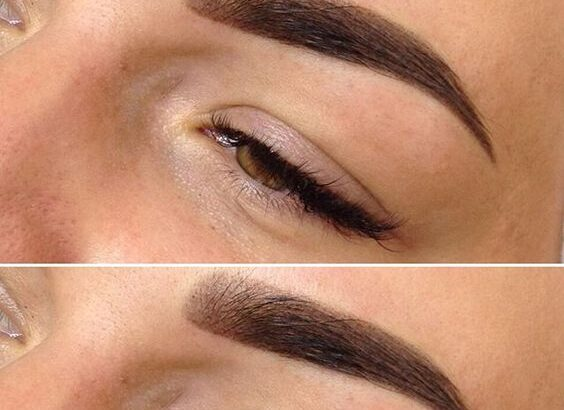 Перманентный макияж в технике пудровое напыление