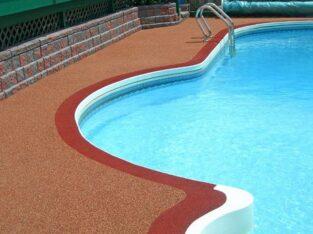 бесшовные покрытия вокруг бассейнов