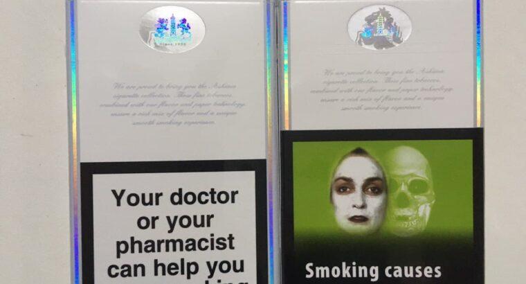 Vânzarea en-gros de țigări Ashima (roșu, albastru).